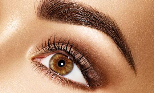 Mit perfekt gestylten Augenbrauen strahlen Ihre Augen.
